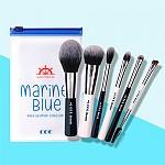 [CORINGCO] Marine Blue Make Up Brush Collection 6P
