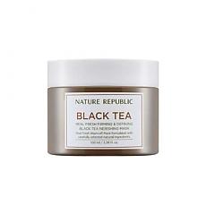 [Nature Republic] Real Fresh Black Tea Nourishing mascarilla