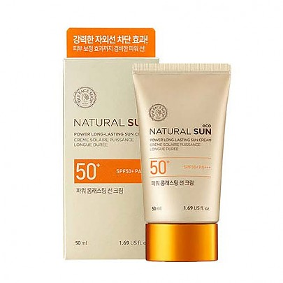 [The face shop] Natural sun eco power long lasting Sunblock SPF 50+ pa+++ 50ml