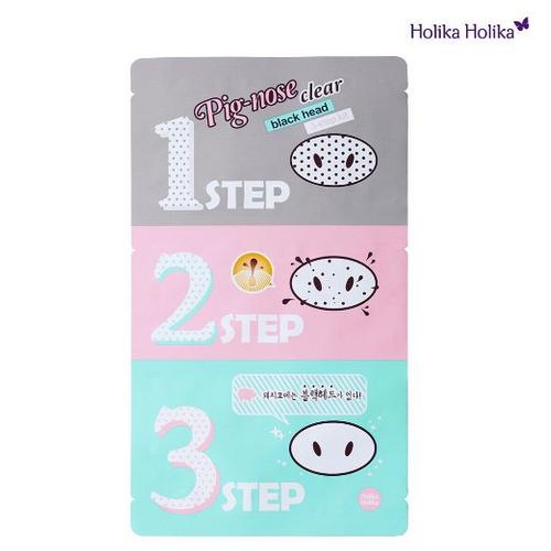 [Holika Holika] Pig Clear Black Head 3-step Kit 1 Sheet