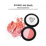 [3CE] Duo Color Face Blush Make Me Blush (Fluttered Lovely Pink Duo) 10g