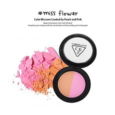 [3CE] Duo Color Face Blush Make Me Blush Miss Flower (Color Blossom Created by Peach and Pink) 10g