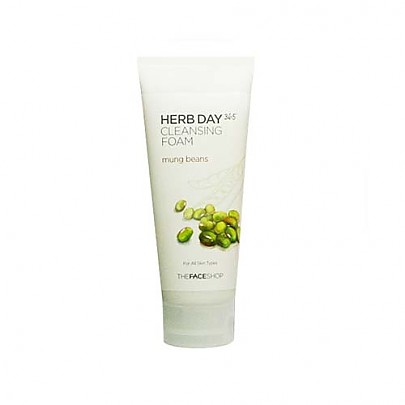 [The face shop] Herb Day 365 Espuma Limpiadora (Mungbeans)