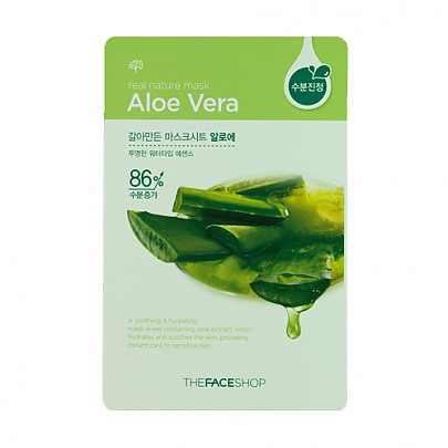 [The face shop] Mascarilla Natural- Aloe vera 20ml