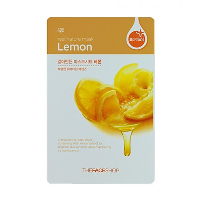 [The face shop] Real Nature mascarilla (Lemon)