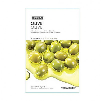[The face shop] Real Nature mascarilla (Olive)