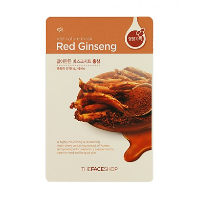 [The face shop] Real Nature mascarilla (Red Ginseng)