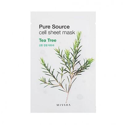 [Missha] Mascarilla de hoja Pura (Tea Tree)