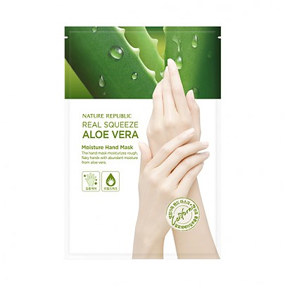 [Nature Republic] Real Squeeze Aloevera Moisture Hand Mask
