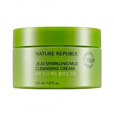 [Nature Republic] Jeju Sparkling Mud Cleansing Cream 215ml