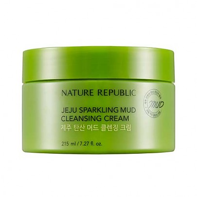 [Nature Republic] Jeju Sparkling Mud Cleansing Cream 215ml