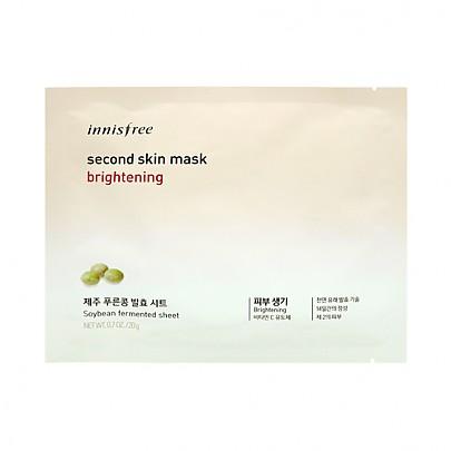 [Innisfree] Second Skin mascarilla Sheet Brightening 20g
