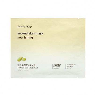 [Innisfree] Second Skin mascarilla Sheet Nourishing 20g