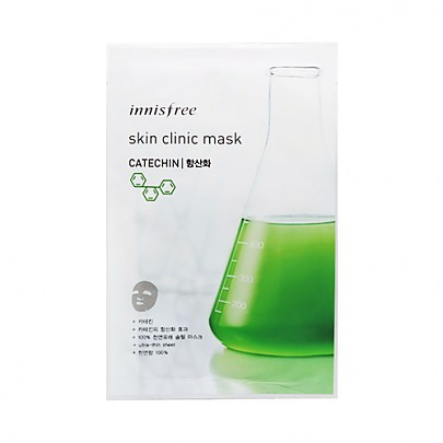 [Innisfree] Skin Clinic mascarilla Sheet (Catechin) 20ml