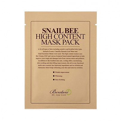 [Benton] Snail Bee High Content Mask Pack 1ea