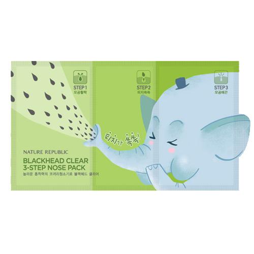 [Nature Republic] Blackhead Clear 3-Step Nose Pack