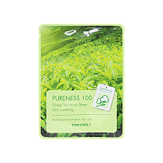 [Tonymoly] Pureness 100 mascarilla Sheet #Green tea