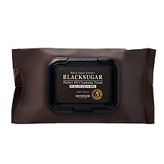 [Skinfood] Black Sugar Perfect Oil Cleansing Tissue