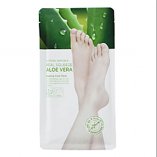 [Nature Republic] [Nature Republic] Foot&Nature Aloe Peeling Foot mascarilla, 25ml (For More Fresh , Exfoliating Effect)