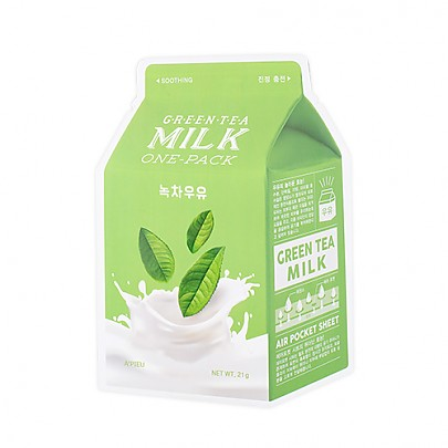 [A'PIEU] Milk One Pack #Greentea Milk