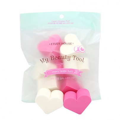 [Etude House] My Beauty Tool Heart Shape Puff (20p)