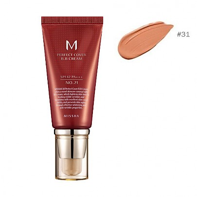 [Missha] M Perfect Covering BB Cream SPF42 PA+++,No.31 Golden Beige (Blemish coverage and Power Long Lasting) the best Seller in global  50ml