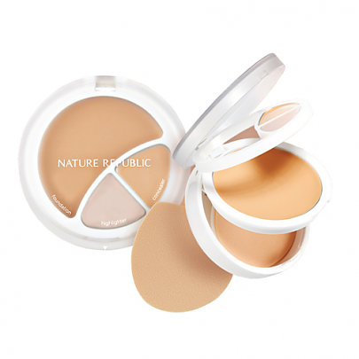[Nature Republic] Provance Intense Cover 3in1 Stroving Foundation #01 (Light Beige)