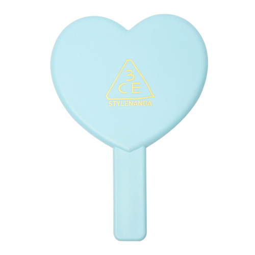 [3CE] Love 3CE Heart Hand Mirror (Blue)