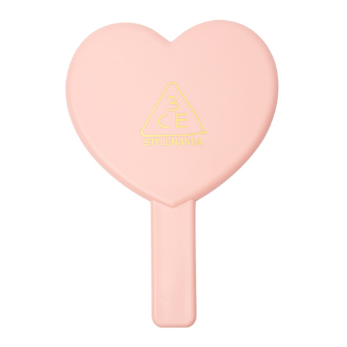 [3CE] Love 3CE Heart Hand Mirror (Peach Pink)