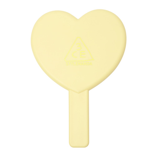 [3CE] Love 3CE Heart Hand Mirror (Yellow)