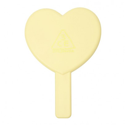 [3 Concept Eyes] Love 3CE Heart Hand Mirror (Yellow)