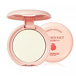 [Skinfood] Peach Cotton Pore Sun Pact SPF42 PA+++ #01 (Clear)