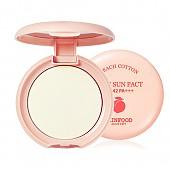 [Skinfood] Peach Cotton Pore Sun Pact SPF42 PA+++ #01 (Clear)