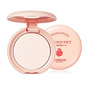 [Skinfood] Peach Cotton Pore Sun Pact SPF42 PA+++ #2 (Pink)