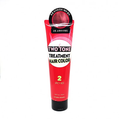 [Etude house] Two Tone Treatment Hair Color #02 (Spicy Red)