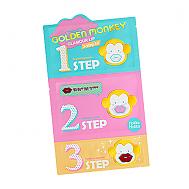 [Holika Holika] Golden Monkey Glamour Lip 3-Step Kit 1EA