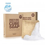 [So natural] Smooth Body Bubble Bath Cube Soap #01 (Powder)