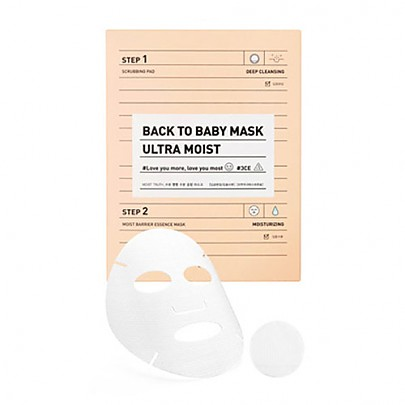 [3CE] Back To Baby mascarilla 3ea (Ultra Moist)