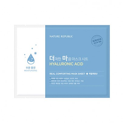 [Nature Republic] Real Comforting mascarilla Sheet (Hyaluronic Acid)