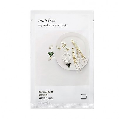 [Innisfree] My Real Squeeze mascarilla (Ginseng)