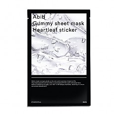 [Abib] Gummy Sheet mascarilla Heartleaf Sticker 1ea