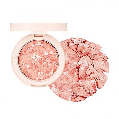 [The face shop] Marble Beam Blush & Highlighter #02 (Love Coral)