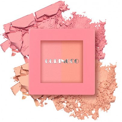 [CORINGCO] Pink Square Dual Cheek #01