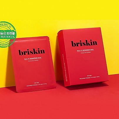 [Briskin]  Real Fit Second Skin mascarilla (Anti Wrinkle & Firmness) 10ea