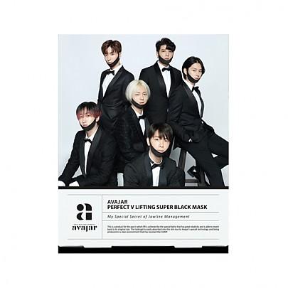 [Avajar] Perfect V Lifting Premium Black mascarilla (Super Junior Edition) 1hoja