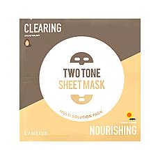 [Laneige] Two Tone Sheet mascarilla (Clearing & Nourishing)