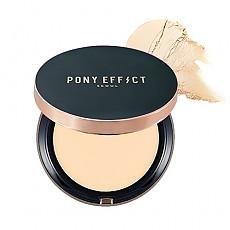 [MEMEBOX] PONY EFFECT Cover Fit compacto de la base d SPF40 PA+++ (color marfil natural)
