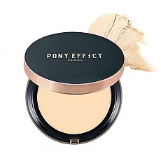 [MEMEBOX] PONY EFFECT Cover Fit compacto de la base SPF40 PA+++ (Beige rosado)