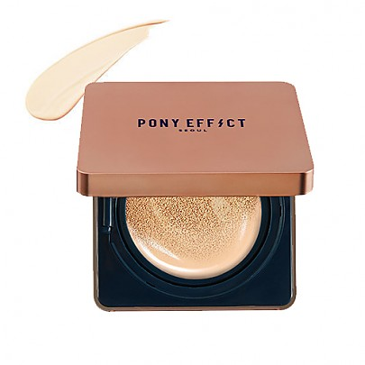 [MEMEBOX] PONY EFFECT Cover Stay Cojín con la base de maquillaje  SPF40 PA+++ (Fair)
