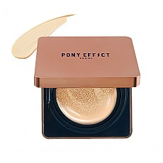 [MEMEBOX] PONY EFFECT Cover Stay Cojín con la base de maquillaje SPF40 PA+++ (Marfil Natural)